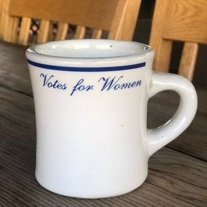"Vintage ""votes for women"" coffee mug"